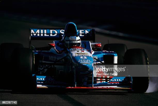 Gerhard Berger BenettonRenault B197 Grand Prix of Austria Red Bull Ring 21 September 1997 Gerhard Berger locks a wheel under braking driving his...