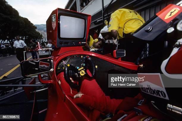 Gerhard Berger Ferrari 412T2 Grand Prix of Monaco Circuit de Monaco 28 May 1995 Gerhard Berger's in the cockpit of his Ferrari 412T2
