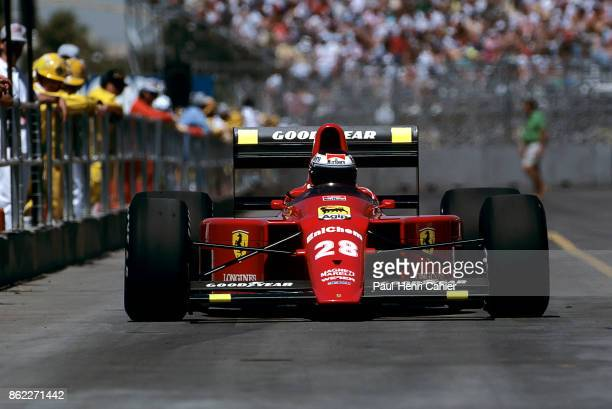 Gerhard Berger Ferrari 640 Grand Prix of the United States Phoenix street circuit 04 June 1989