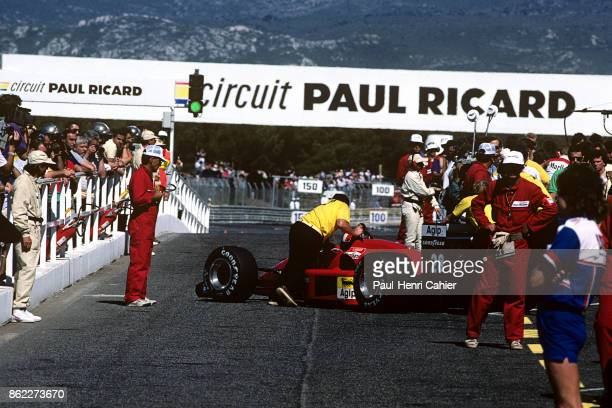 Gerhard Berger Ferrari F1/87/88C Grand Prix of France Circuit Paul Ricard 07 March 1988