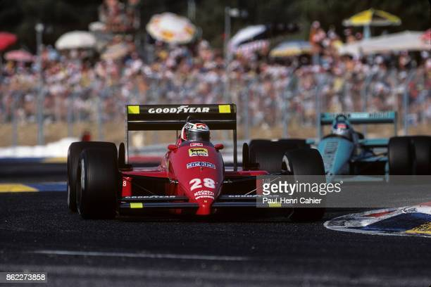 Gerhard Berger Ivan Capelli Ferrari F1/87 MarchFord 871 Grand Prix of France Circuit Paul Ricard 05 July 1987