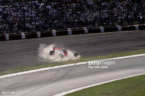 Gerhard Berger McLarenHonda MP4/5B Grand Prix of Japan Suzuka Circuit 21 October 1990 Gerhard Berger skids off the track in the 1989 Grand Prix of...