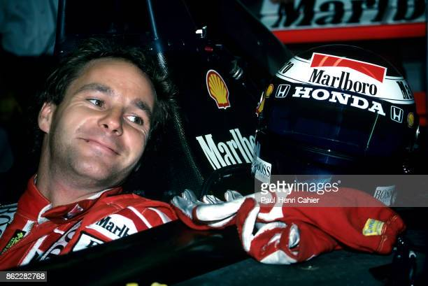 Gerhard Berger McLarenHonda MP4/7A Grand Prix of Portugal Autodromo do Estoril 27 September 1992