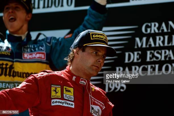 Gerhard Berger Michael Schumacher Grand Prix of Spain Circuit de BarcelonaCatalunya 14 May 1995