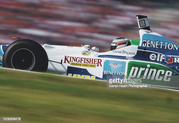 Gerhard Berger of Austria drives the Mild Seven Benetton Renault Benetton B196 Renault V10 during the Formula One German Grand Prix on 28 July 1996...