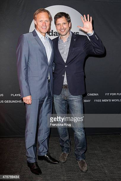 Gerhard Delling and Andreas Tuerck attend the BurdaNews Night on June 03 2015 in Hamburg Germany