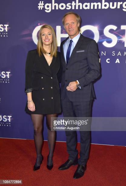 Gerhard Delling and daughter Katharina Delling attend the premiere of the musical 'Ghost The Musical' at Stage Operettenhaus on October 28 2018 in...