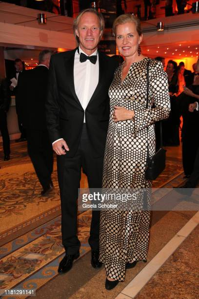 Gerhard Delling and his girlfriend Vicki Hinrichs during the German Sports Media Ball at Alte Oper on November 9 2019 in Frankfurt am Main Germany