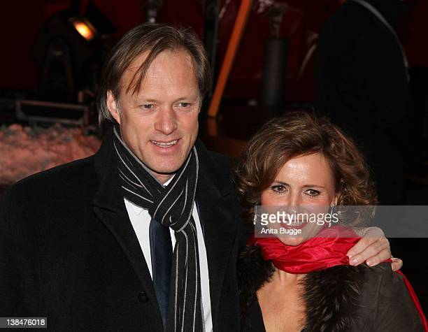 Gerhard Delling and his wife Isabelle attend the 47th Golden Camera Awards at the Axel Springer Haus on February 4 2012 in Berlin Germany
