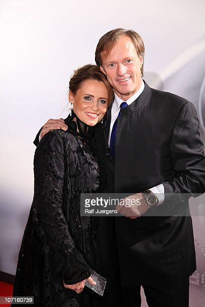 Gerhard Delling and his wife Isabelle attend the 'German Sustainability Award' at Maritim Hotel on November 26 2010 in Duesseldorf Germany