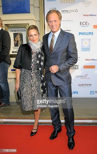 Gerhard Delling and Isabelle Delling attend charity event Das kleine Herz im Zentrum at St Pauli Theater on June 10 2013 in Hamburg Germany