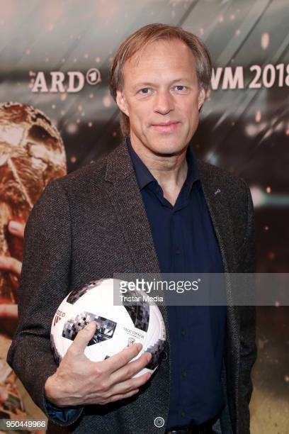 Gerhard Delling during the TV programs ARD and ZDF present their team for the 2018 FIFA World Championship in Russia on April 23 2018 in Hamburg...