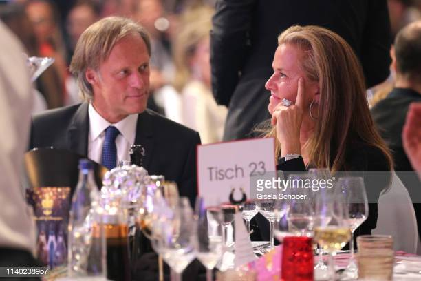 Gerhard Delling Vicki Hinrichs during the 7th Fashion Charity Dinner and the Best of Awards at Hotel Leonardo Royal on April 29 2019 in Munich Germany