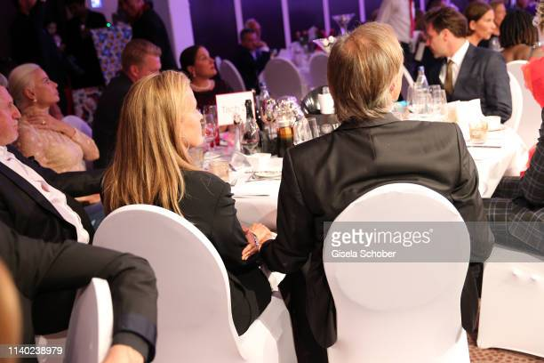 Gerhard Delling Vicki Hinrichs holding hands during the 7th Fashion Charity Dinner and the Best of Awards at Hotel Leonardo Royal on April 29 2019 in...
