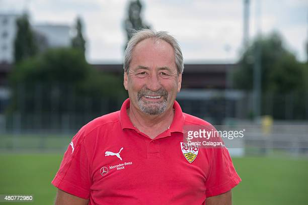 Gerhard Egger poses during the official team presentation of VfB Stuttgart II at VfB Stuttgart training site on July 15 2015 in Stuttgart Germany