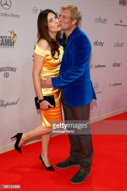 Gerhard Leinauer and Alexandra Polzin arrive at Tribute To Bambi at Station on October 17 2013 in Berlin Germany