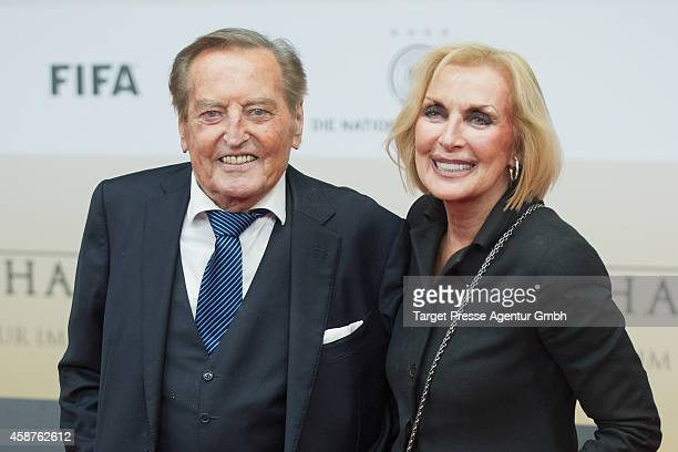 Gerhard MayerVorfelder and his wife Margit attend the 'Die Mannschaft' premiere at Potsdamer Platz on November 10 2014 in Berlin Germany