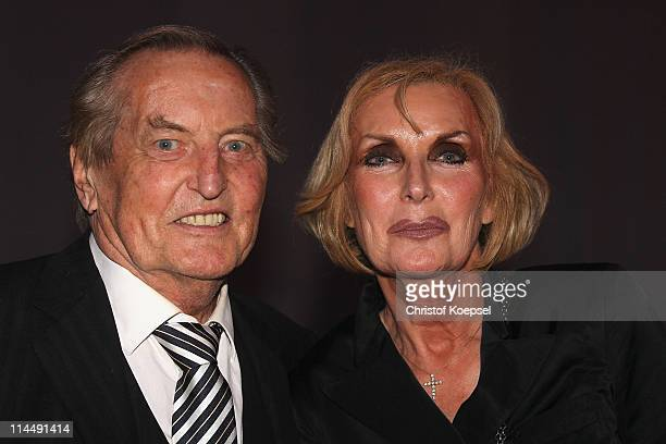 Gerhard MayerVorfelder and wife Margit pose during the celebration after the DFB Cup final match between MSV Duisburg and FC Schalke 04 at Olympic...