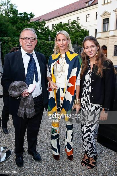 Gerhard Meir Elisabeth von AuerspergBreunner and her daughter Emilia von AuerspergBreunner attend the Thurn Taxis Castle Festival 2016 'Carmen' Opera...