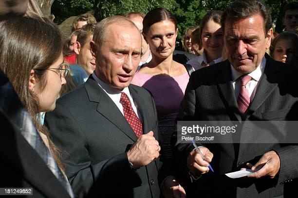 Gerhard Schröder Wladimir Putin Treffen zur 750JahrFeier Kaliningrad/ Polen
