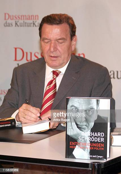 Gerhard Schroeder during Gerhard Schröder Book Signing in Berlin October 26 2006 in Berlin Berlin Germany