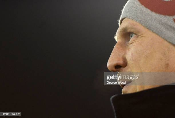 Gerhard Struber manager of Barnsley looks on ahead of the Sky Bet Championship match between Barnsley and Preston North End at Oakwell Stadium on...