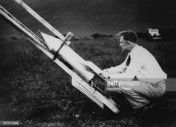 Gerhard Zucker The Inventor Of The Mail Rocket On The Thirties