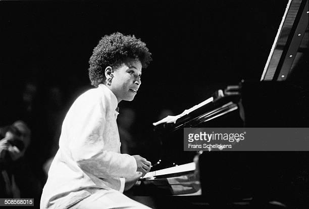 Geri Allen, piano, performs at the jazzmarathon in the Oosterpoort in Groningen, Netherlands on 12th December 1990.