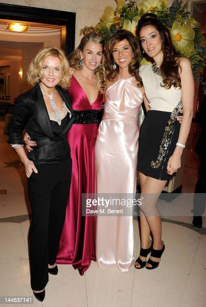Geri Halliwell Anastasia Webster Heather Kerzner and Yasmin Ghandehari attend the Marie Curie Cancer Fundraiser hosted by Heather Kerzner at...