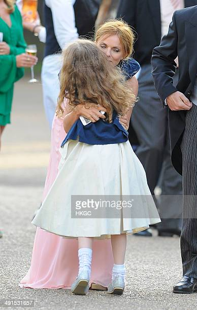 Geri Halliwell and Bluebell Halliwell attend Poppy Delevingne and James Cook's wedding reception held in Kensington Palace Gardens on May 16 2014 in...