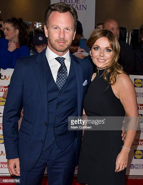 Geri Halliwell and Christian Horner attend the Pride of Britain awards at The Grosvenor House Hotel on September 28 2015 in London England