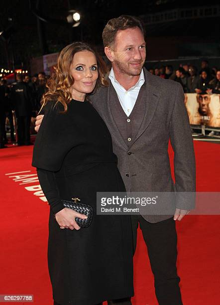 Geri Halliwell and Christian Horner attend the World Premiere of 'I Am Bolt' at Odeon Leicester Square on November 28 2016 in London England