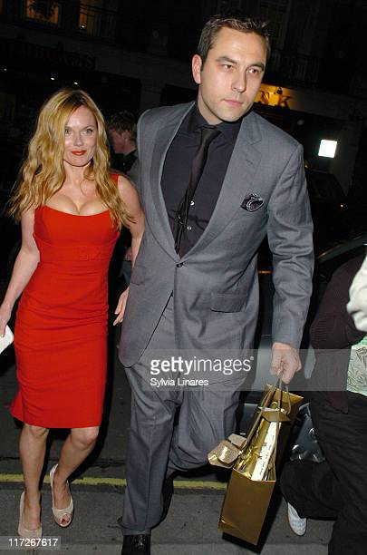 Geri Halliwell and David Walliams during David Beckham's 32nd Birthday Party at Cipriani's in London May 2 2007 at Cipriani Reaturant in London Great...