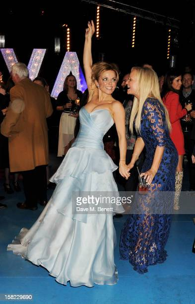 Geri Halliwell and Emma Bunton attend an after party celebrating the Gala Press Night performance of 'Viva Forever' at Victoria Embankment Gardens on...