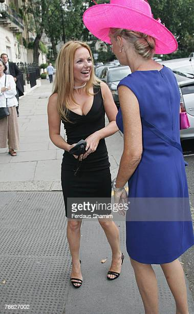 Geri Halliwell and Guest attends the wedding of Chloe Delevingne and Louis Buckworth on September 7 2007 in London England