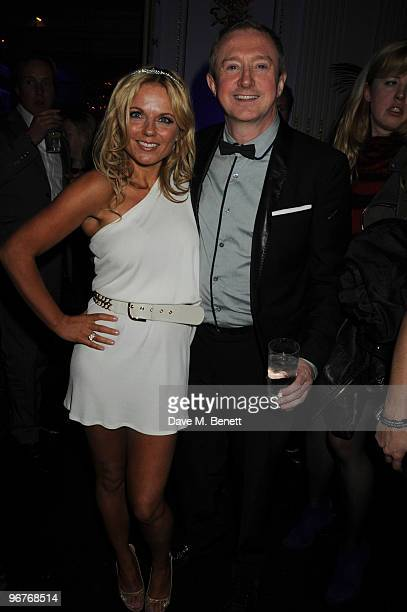 Geri Halliwell and Louis Walsh attend the Brit Awards after party held by Universal at the Mandarin Oriental Hotel on February 16 2010 in London...