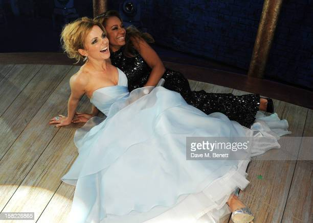 Geri Halliwell and Melanie Brown pose backstage at the Gala Press Night performance of 'Viva Forever' at the Piccadilly Theatre on December 11, 2012...