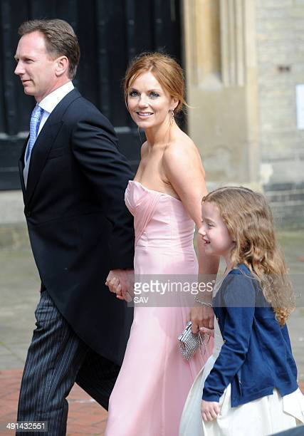 Geri Halliwell arrives at the church with her family on May 16 2014 in London England