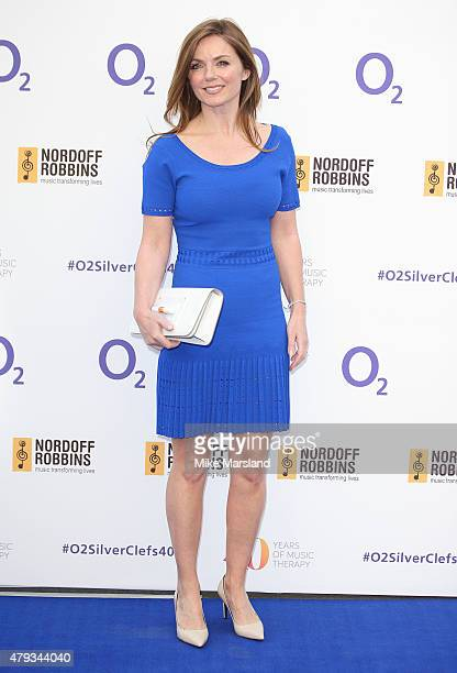 Geri Halliwell arrives at the Nordoff Robbins O2 Silver Clef Awards at The Grosvenor House Hotel on July 3 2015 in London England