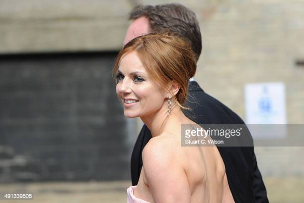 Geri Halliwell arrives for Poppy Delevingne's wedding at St Pauls Knightsbridge on May 16 2014 in London England