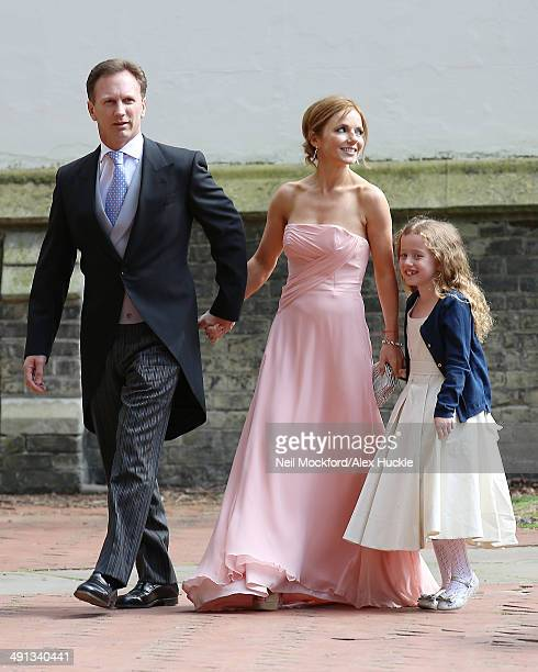 Geri Halliwell arriving at the wedding of Poppy Delevingne and James Cook on May 16 2014 in London England