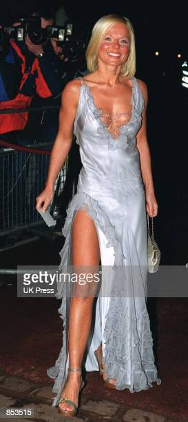 Geri Halliwell attends a Prince's Trust 25th anniversary Thanksgiving dinner March 12, 2001 at St James's Palace in London, hosted by the Prince of...