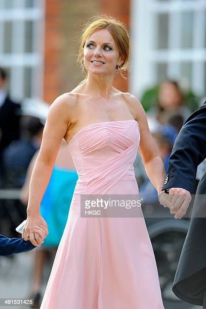 Geri Halliwell attends Poppy Delevingne and James Cook's wedding reception held in Kensington Palace Gardens on May 16 2014 in London England