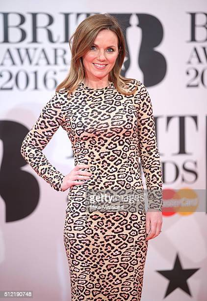 Geri Halliwell attends the BRIT Awards 2016 at The O2 Arena on February 24 2016 in London England