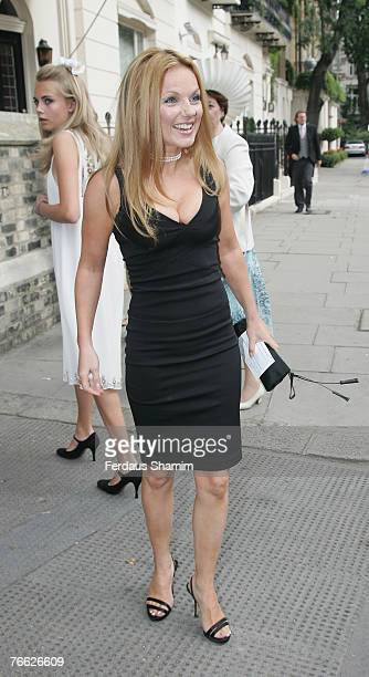 Geri Halliwell attends the wedding of Chloe Delevingne and Louis Buckworth on September 7 2007 in London England