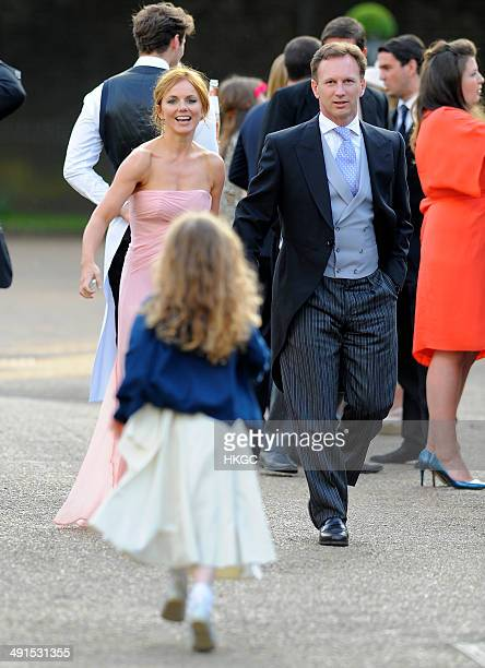 Geri Halliwell Bluebell Halliwell and Christian Horner attend Poppy Delevingne and James Cook's wedding reception held in Kensington Palace Gardens...