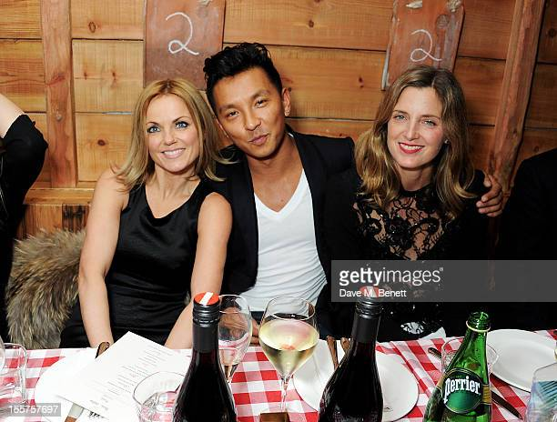 Geri Halliwell designer Prabal Gurung and Amanda Brooks attend as Elizabeth Saltzman hosts a private dinner celebrating the launch of Piers Adam's...