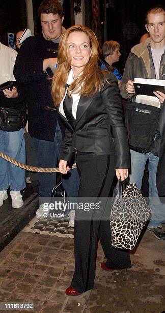 Geri Halliwell during 'Bent' Press Night Arrivals October 5 2006 at Trafalgar Studios in London Great Britain