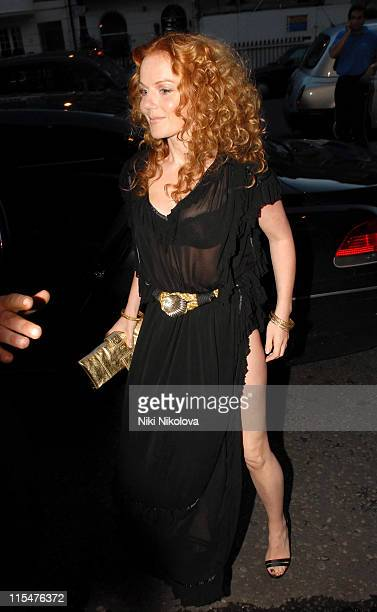 Geri Halliwell during George Michael's 44th Birthday Party at Berkley Hotel in London Great Britain