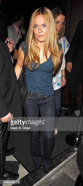 Geri Halliwell is seen on September 6 2007 in London England